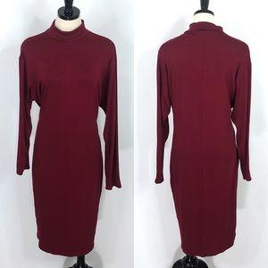 PrettyLittleThing Turtleneck Bodycon Midi Dress